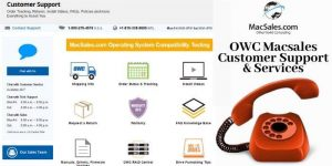 OWC Macsales Customer Support & Service