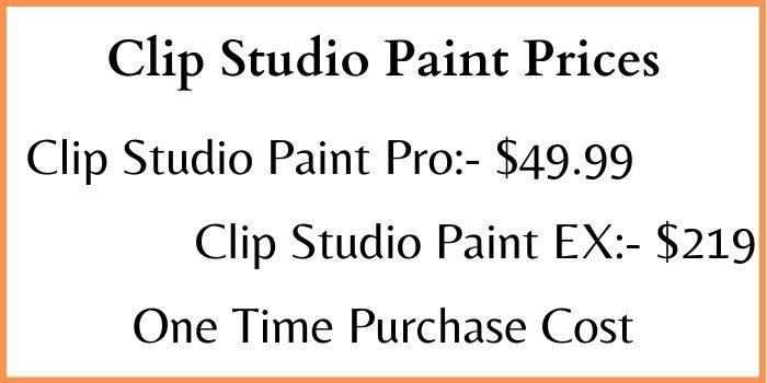 Clip Studio Paint Prices
