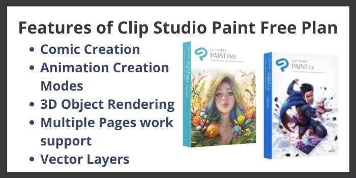 Clip Studio Paint Free Features